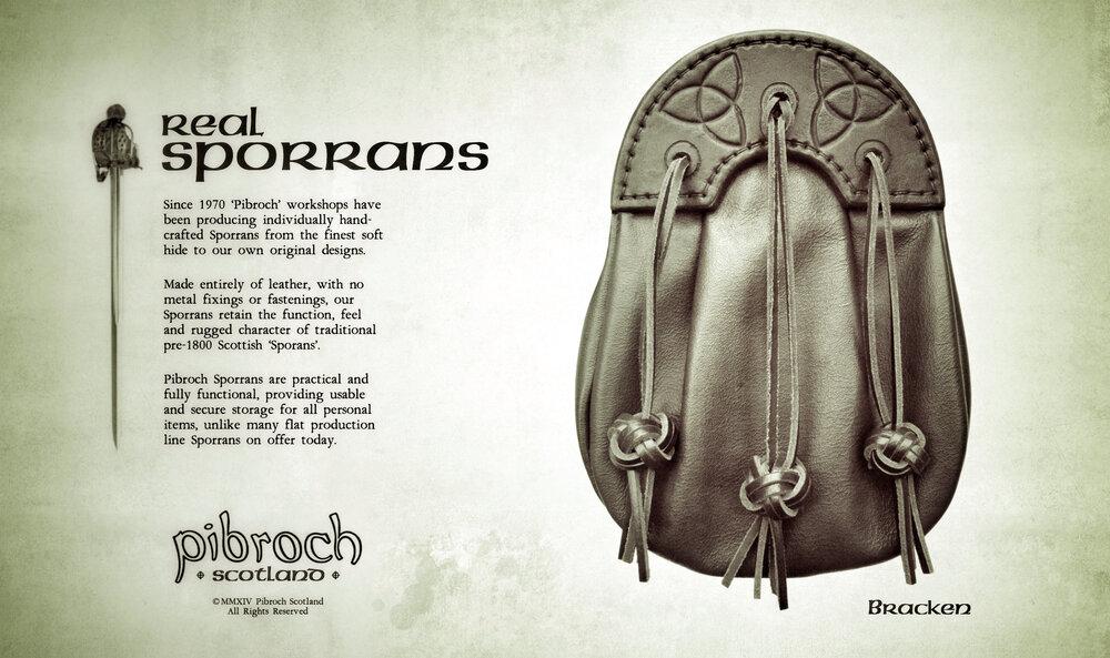 Pibroch Scotland Sporrans - Bracken