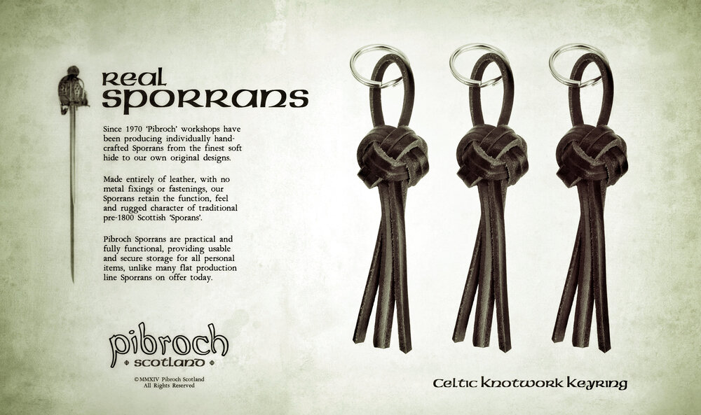 Pibroch Scotland Sporrans - Celtic Knotwork Keyring