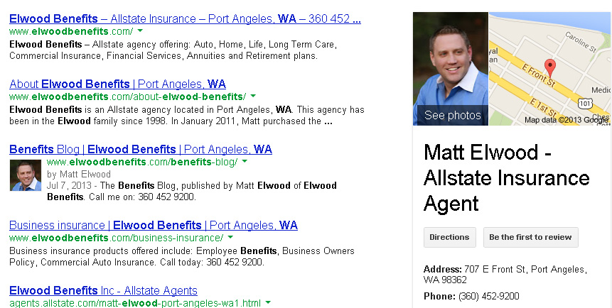 Elwood Benefits on Google