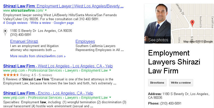 Shirazi Law Firm on Google