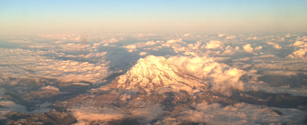 Mount Rainier - Leaving Seattle early evening