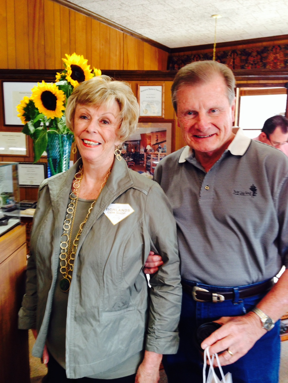Thank you Judy and Guy Parker from Jackson, MS - our new, walking advertising team!