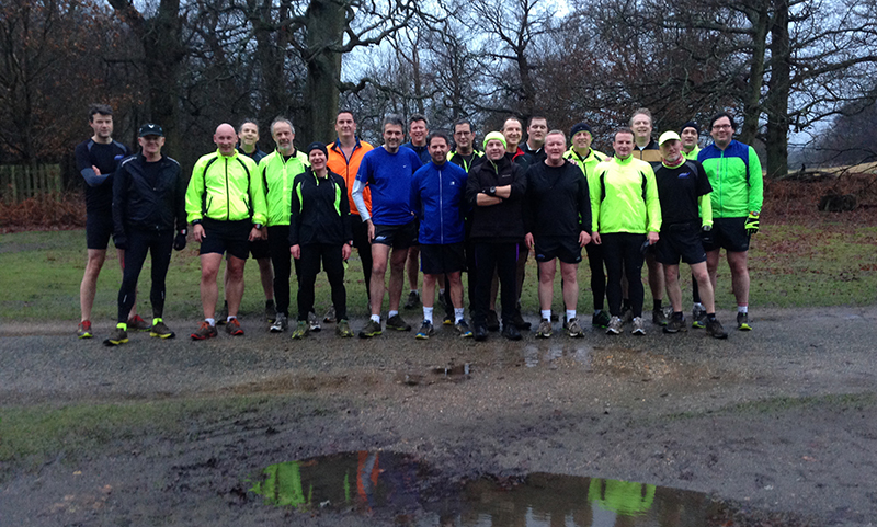 The slightly faster group who hope to be slightly slimmer by this time next year...
