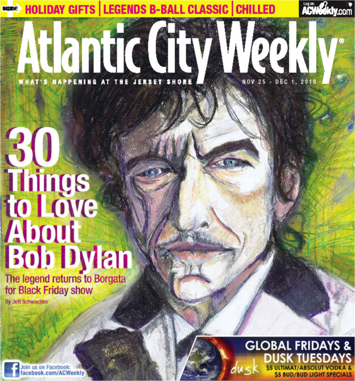 Cover drawing I did for Atlantic City Weekly.