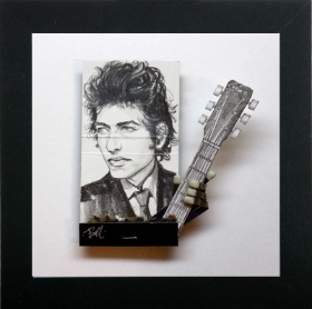 "An example of South Jersey artist Mike Bell's Dylan matchbook art, some of which will be on display at ""Dylan Fest AC."""