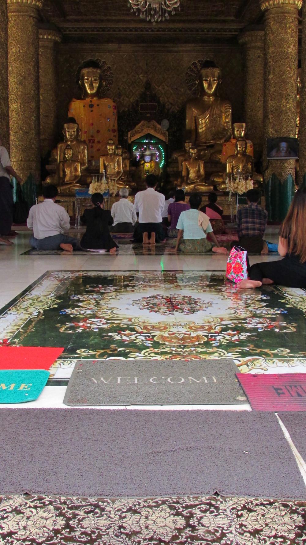Welcome. Shwedagon Pagoda.