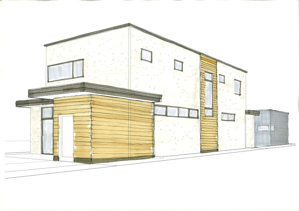 Exterior finishes denver modern for Modern home exterior finishes