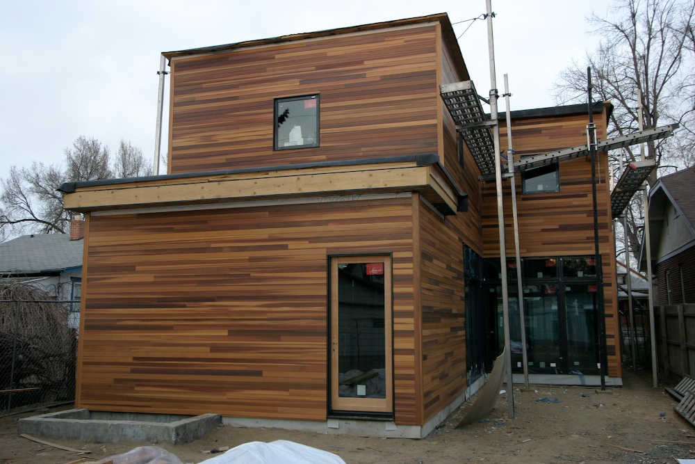 Siding horizontal cedar denver modern for Horizontal metal siding