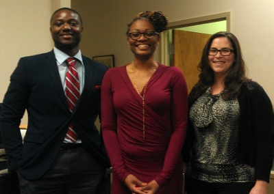 Barry Law Students (l to r):  Kenneth Ejene, Mylika Morton, Stacey Schwartz
