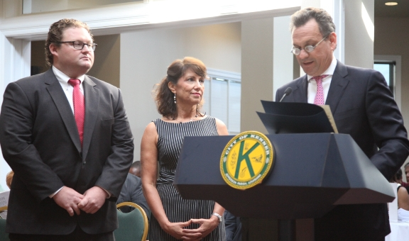 (L to R) Board Member Chris Short, Executive Director Rachel Piercey, Jefferson Parish Council President John Young, October 7 Proclamation Presentation. Photo courtesy of Jefferson Parish Public Information Office.