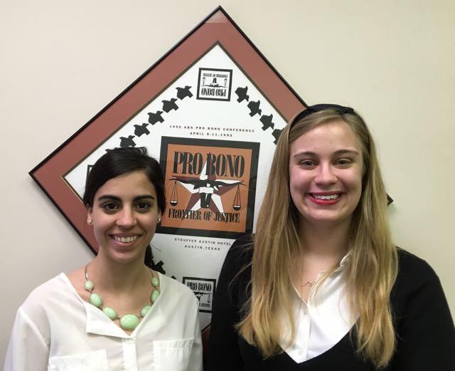 Gillis Long Scholars: Luisa Batista (l) and Miranda Shaughnessy (r)