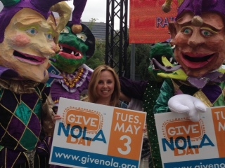 Jenny Rizzo-Choi (c) at GiveNOLA Day Press Conference, May 3