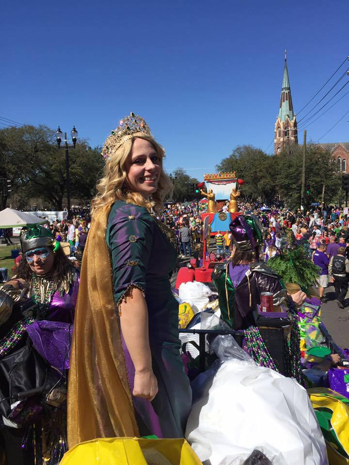 CC as Queen of the Krewe of Tucks, 2017