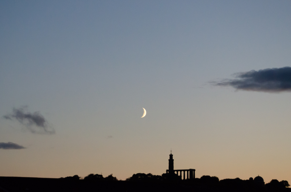 Evening Moon - Edinburgh