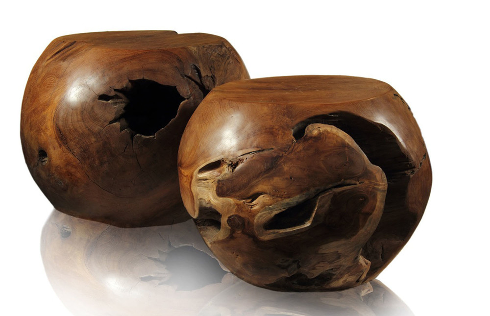 Organically Sculpted Teak Root Balls