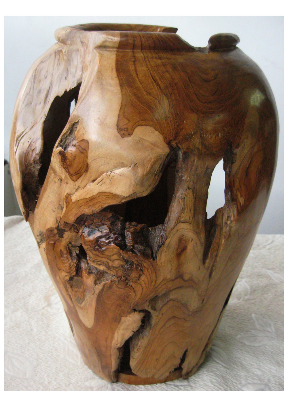 Organically Sculpted Teak Root Vase (2)