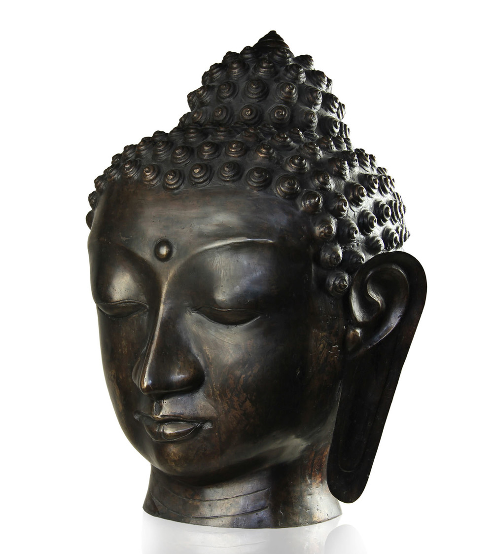 Buddha Head in Bronze