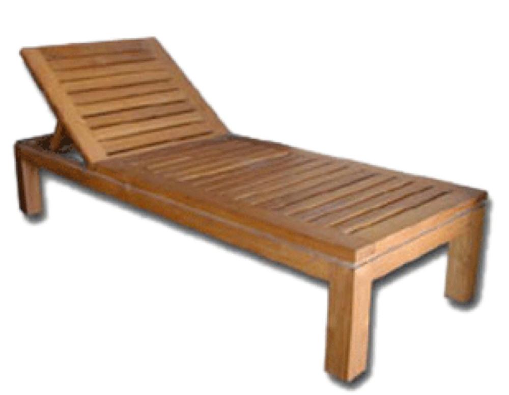 Garden Teak Chaise Lounge