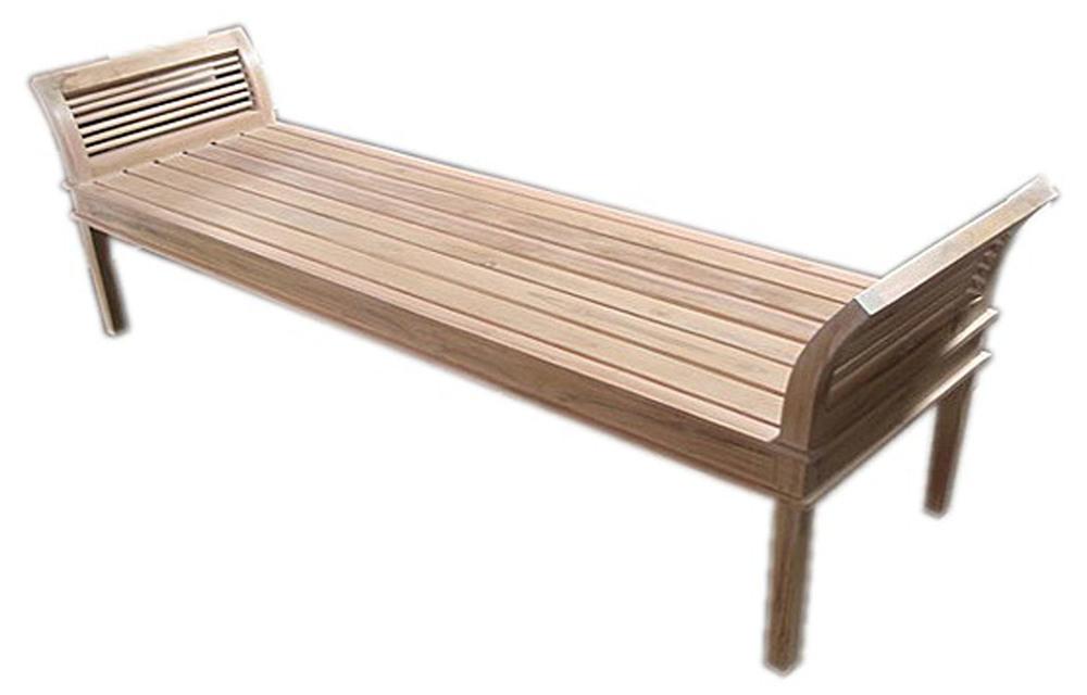 Garden Teak Curved Bench