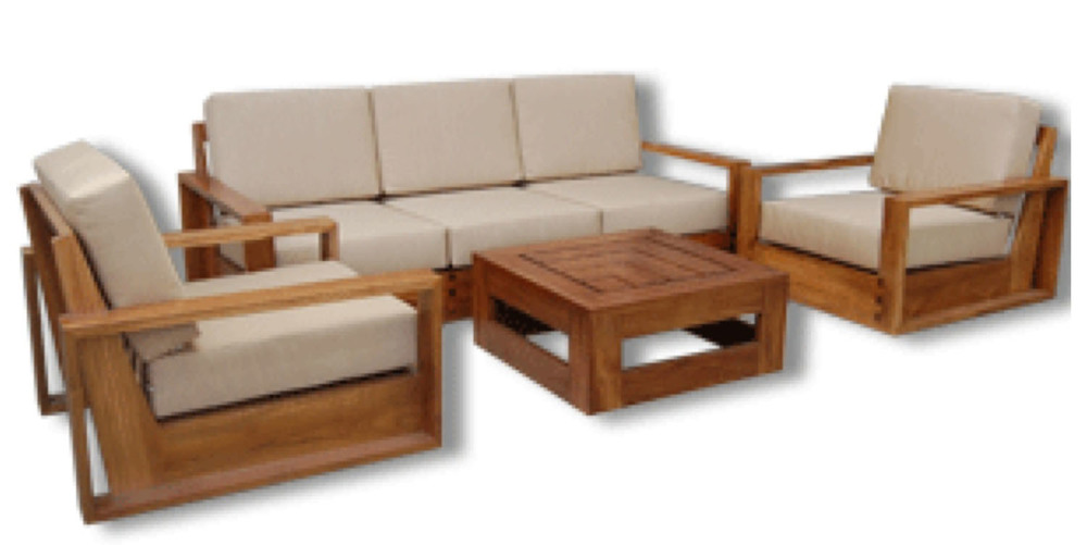 Garden Teak Square Sofa