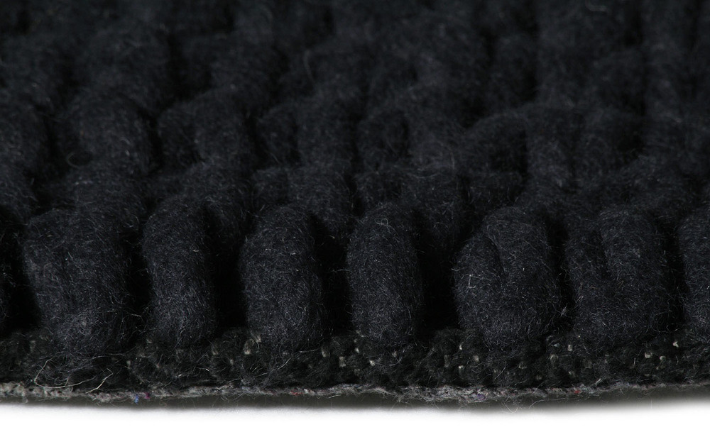 Super Natural Wool Knit Carpit Charcoal