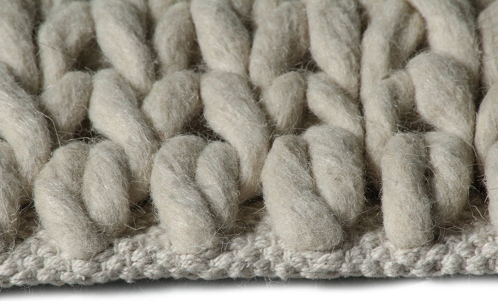 Super Natural Wool Knit Ivory Carpit
