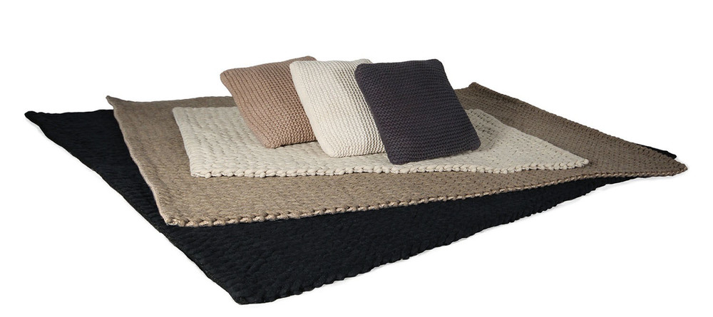 Super Natural Wool Knit Rugs