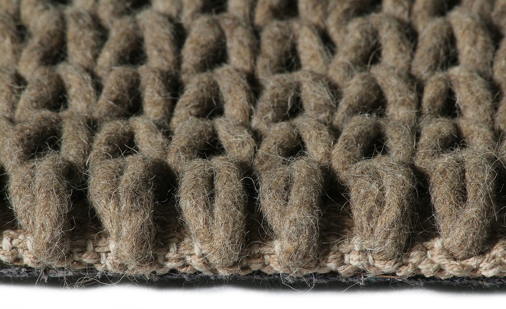 Super Natural Wool Knit Cement Carpit
