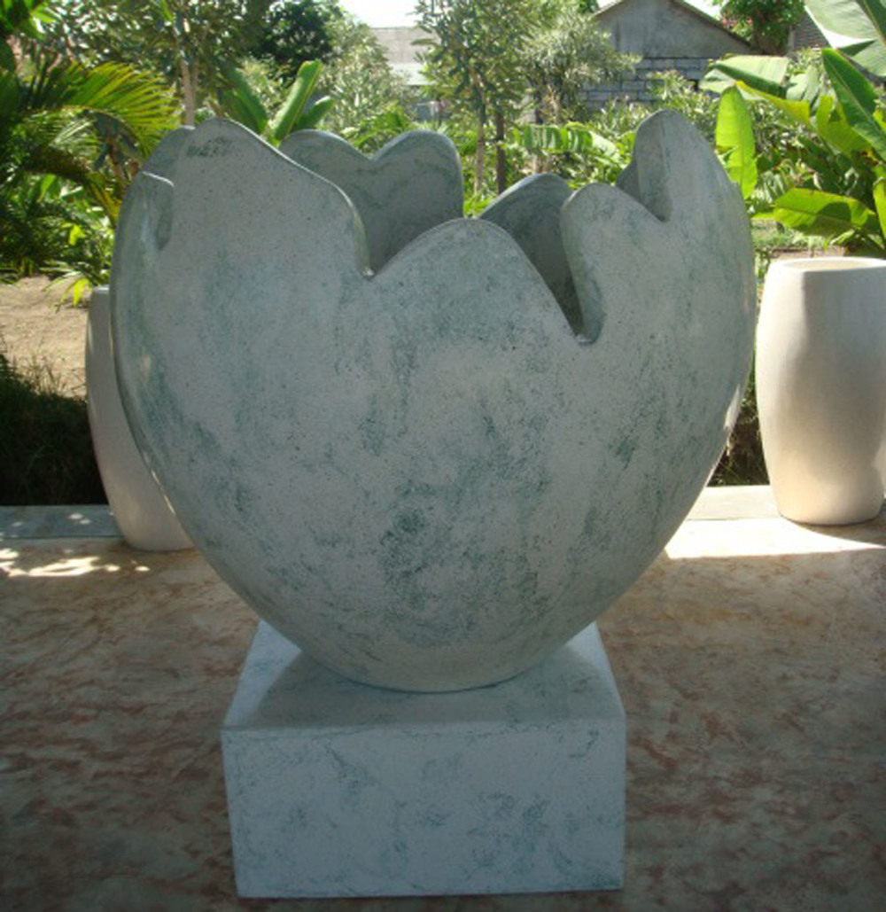 Terrazzo Handpainted Egg Pot