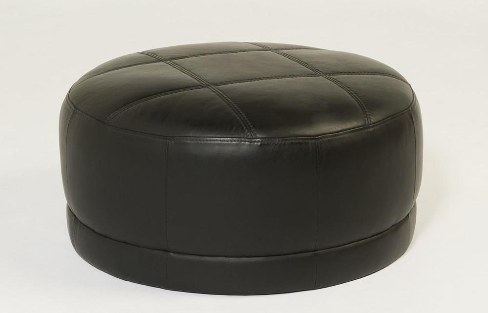 Cocoon II Leather Ottoman