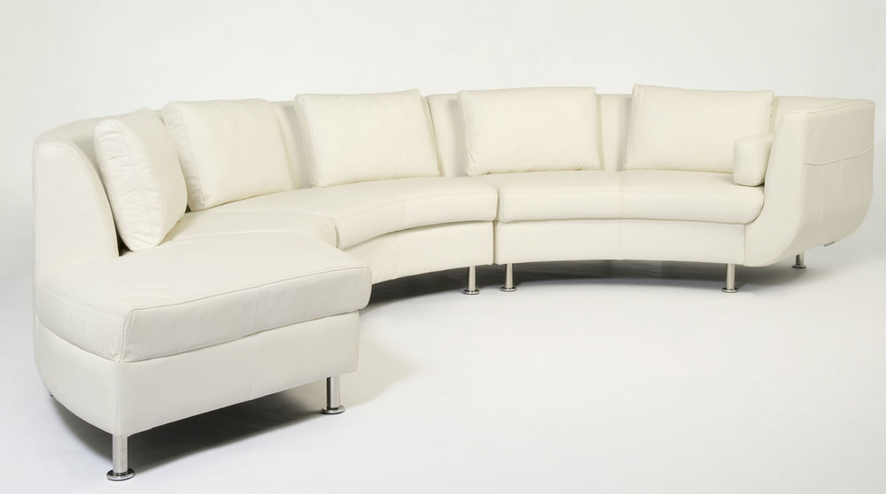 Cocoon I Sectional White Leather