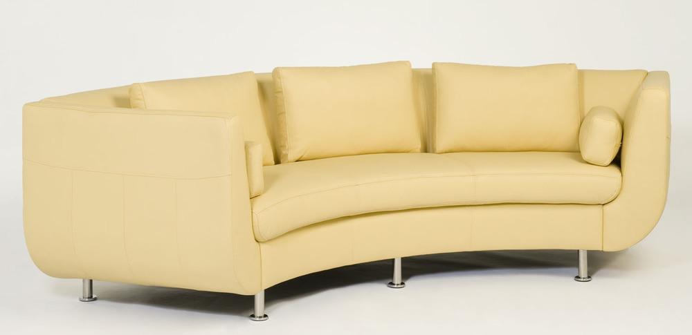 Cocoon I Sofa Fabric. Circular sofa, rounded sofa.