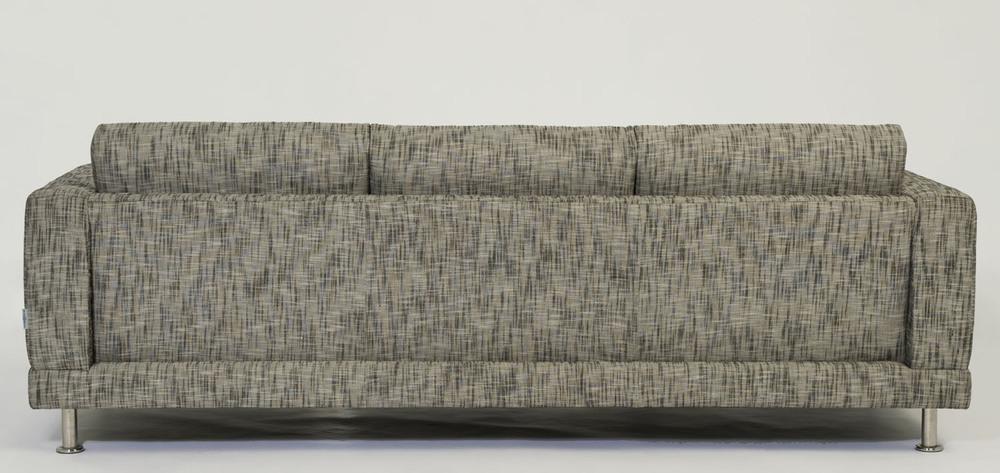 Design 2 Sofa Back in tweed. Blue Moon Furniture store in winnipeg