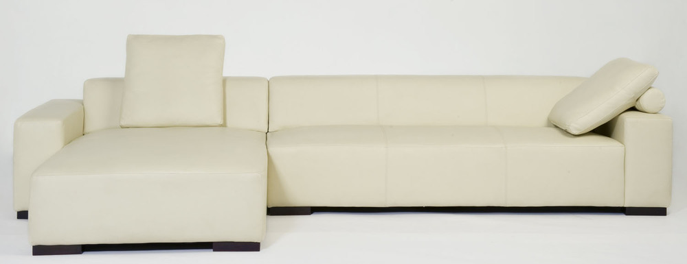 Coast Sectional with Chaise with pillows