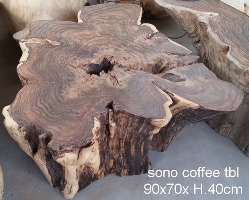 rose wood free form authentically sculpted coffee table