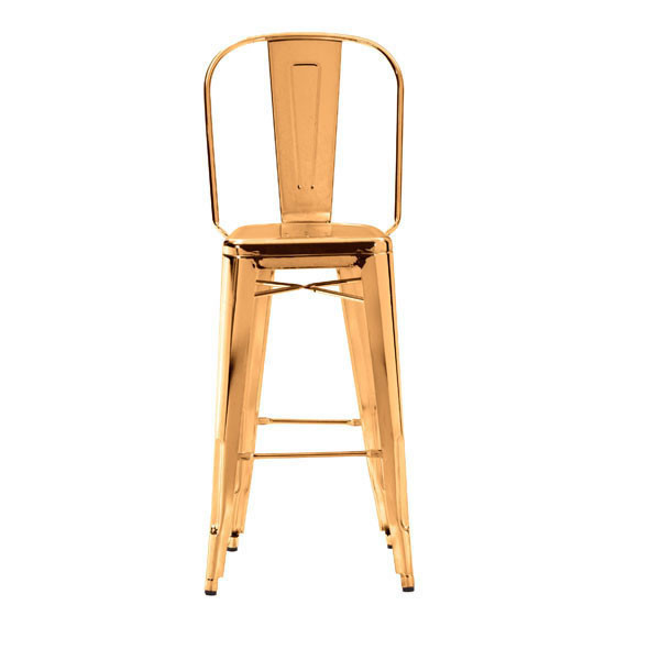 gold tolix chair, barstool, counter stool
