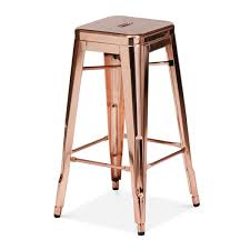 rose gold tolix chair, barstool and counter stool.