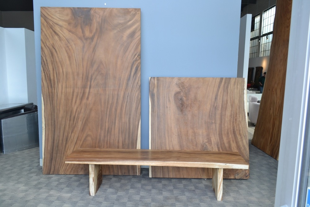 """Copy of custom build counter tops. 52"""" wide single slab solid wood counter tops."""