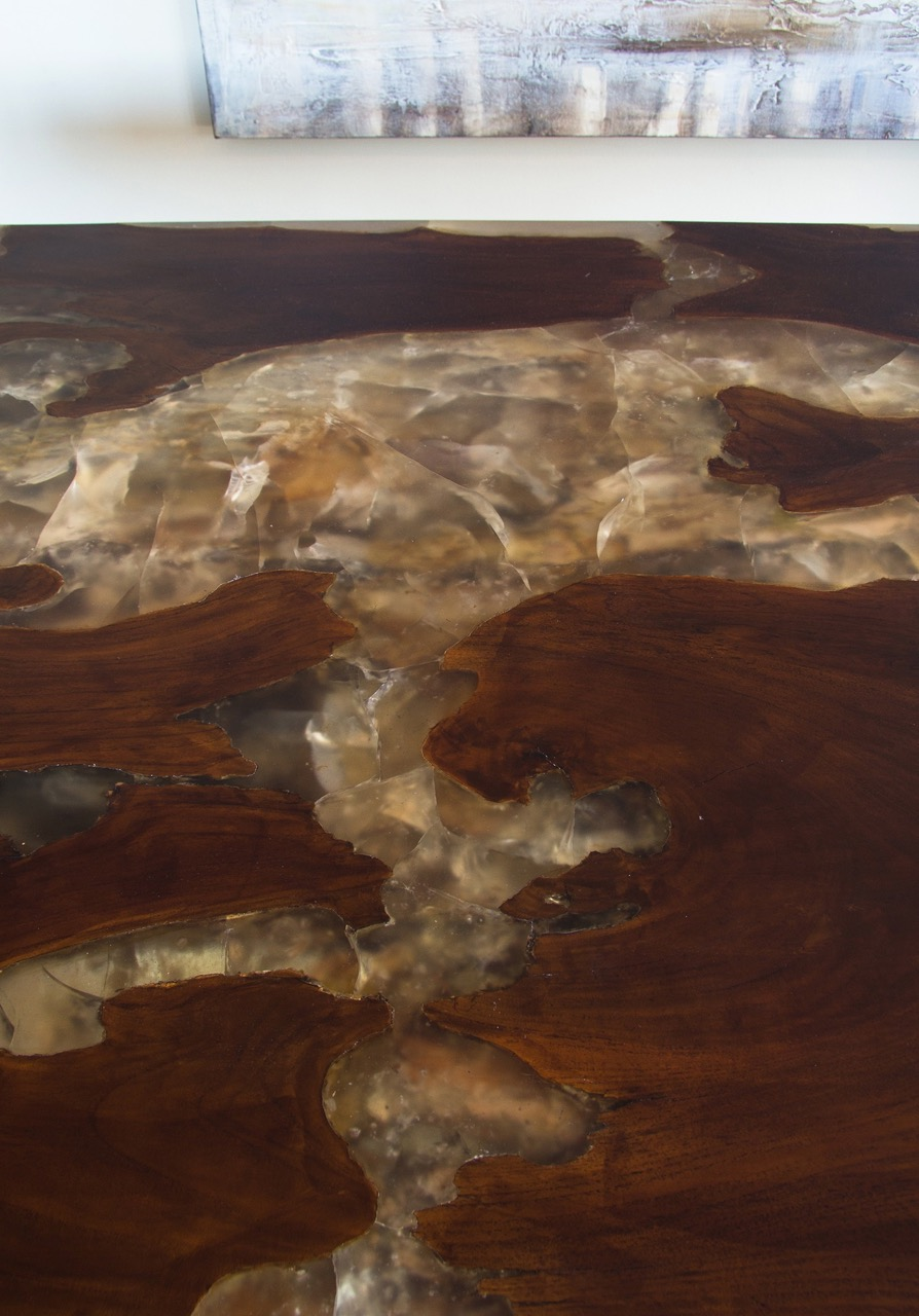 Teak Root and Resin Table