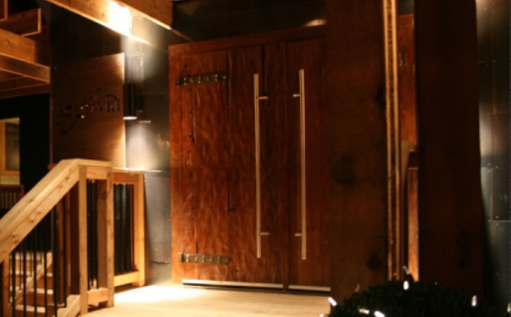 Entrance Doors Hand Hammered Teak Segovia Restaurant