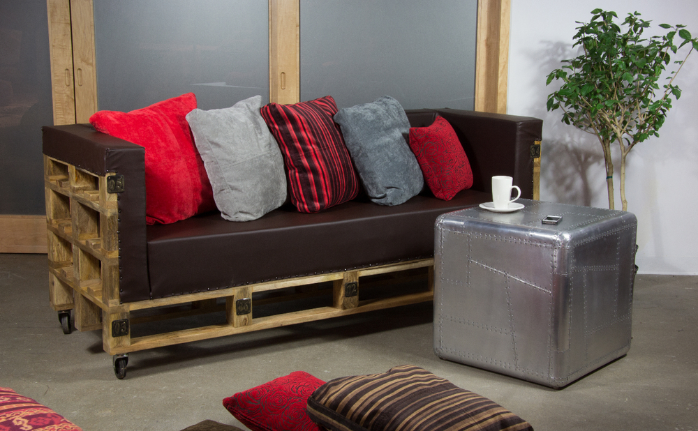 Copy of deconstructed crate sofa. Industrial furniture