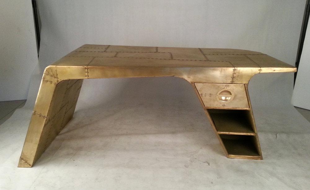 aviator desk in gold. office furniture