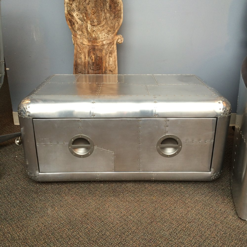 aviator coffee table with drawers