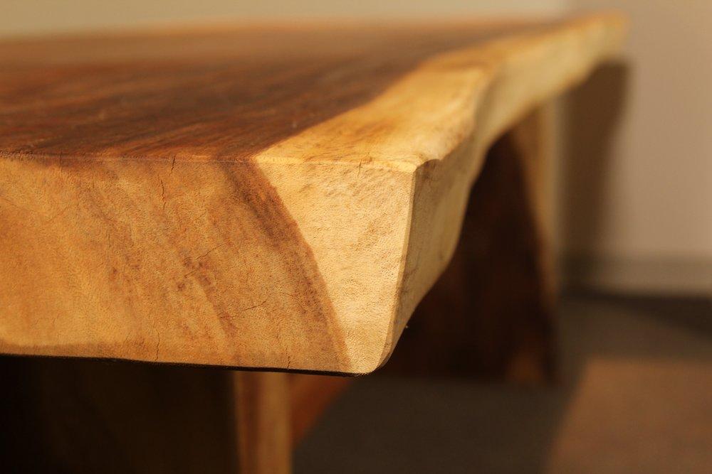single slab live edge solid wood table, desk, coffee table furniture