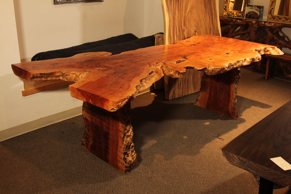 single slab live edge table, desk, coffee table furniture winnipeg store