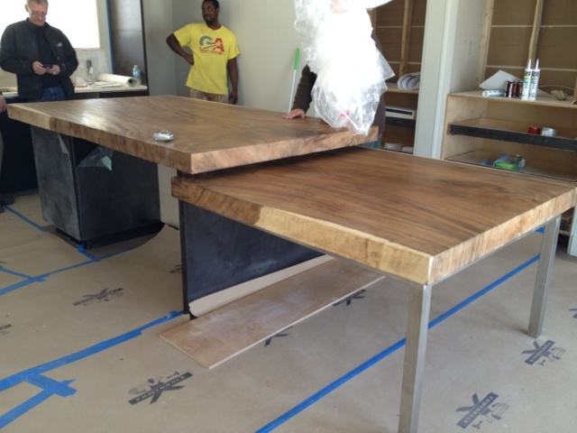 single slab solid wood custom counter tops
