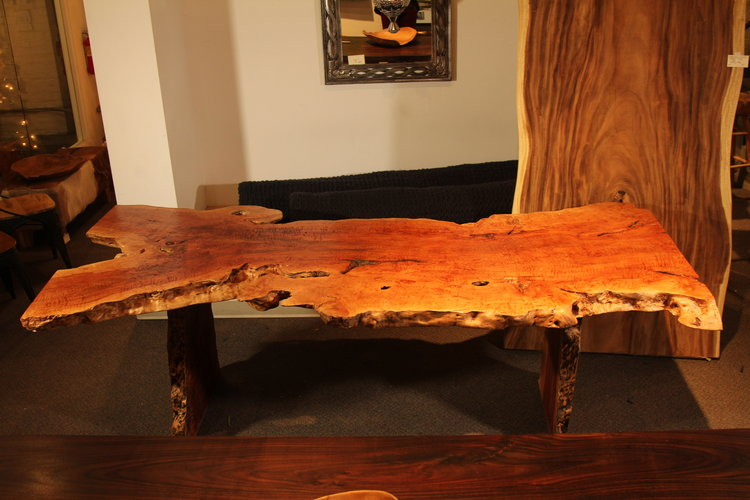dining exotic live edge lychee wood table.JPG