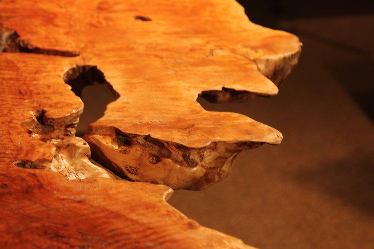 detail of lychee wood