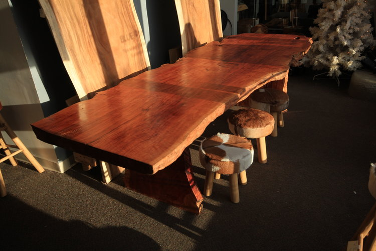 Copy of exotic lychee wood live edge table