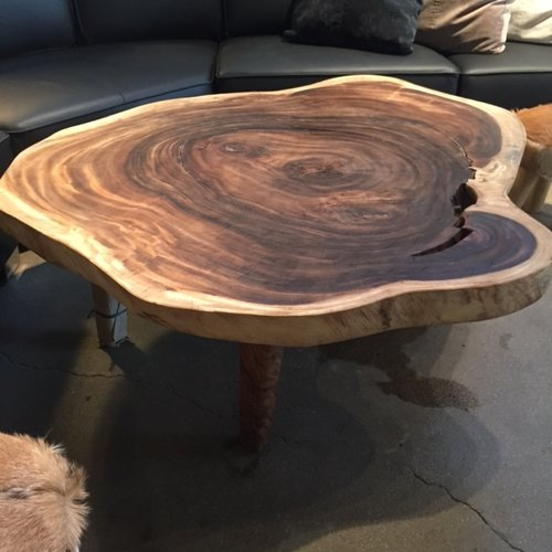 majestic live edge slice coffee table